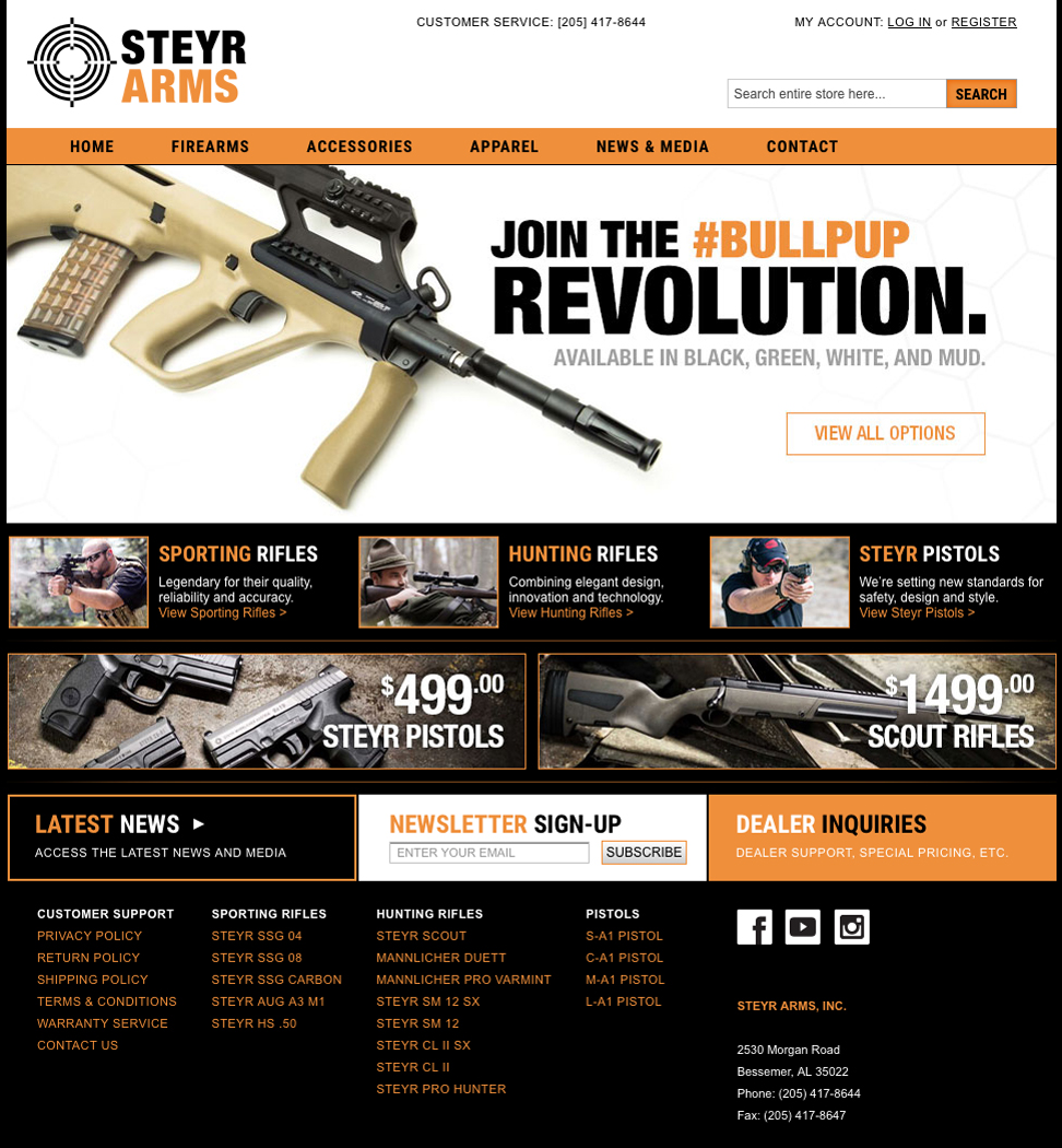 Steyr Arms Launches Its New Website in Time for Black Friday/Cyber